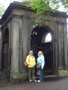 My mom and I walking through the graveyards....