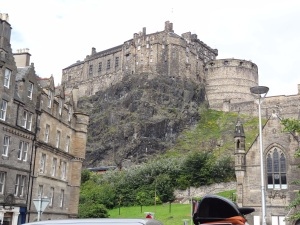 Edinburgh Castle...no wool here! LOL!