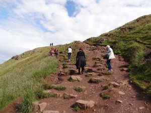 Hiking up Arthurs Seat - Whew! that was straight up!!!