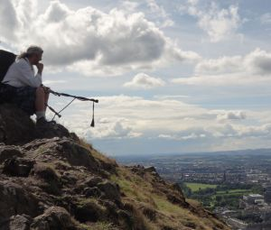 Jimi the Piper on Arthurs Seat