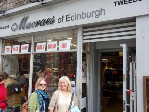 Macraes of Edinburgh store! I did find some hand knits - but no skeins of wool....